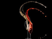Wine with Black background
